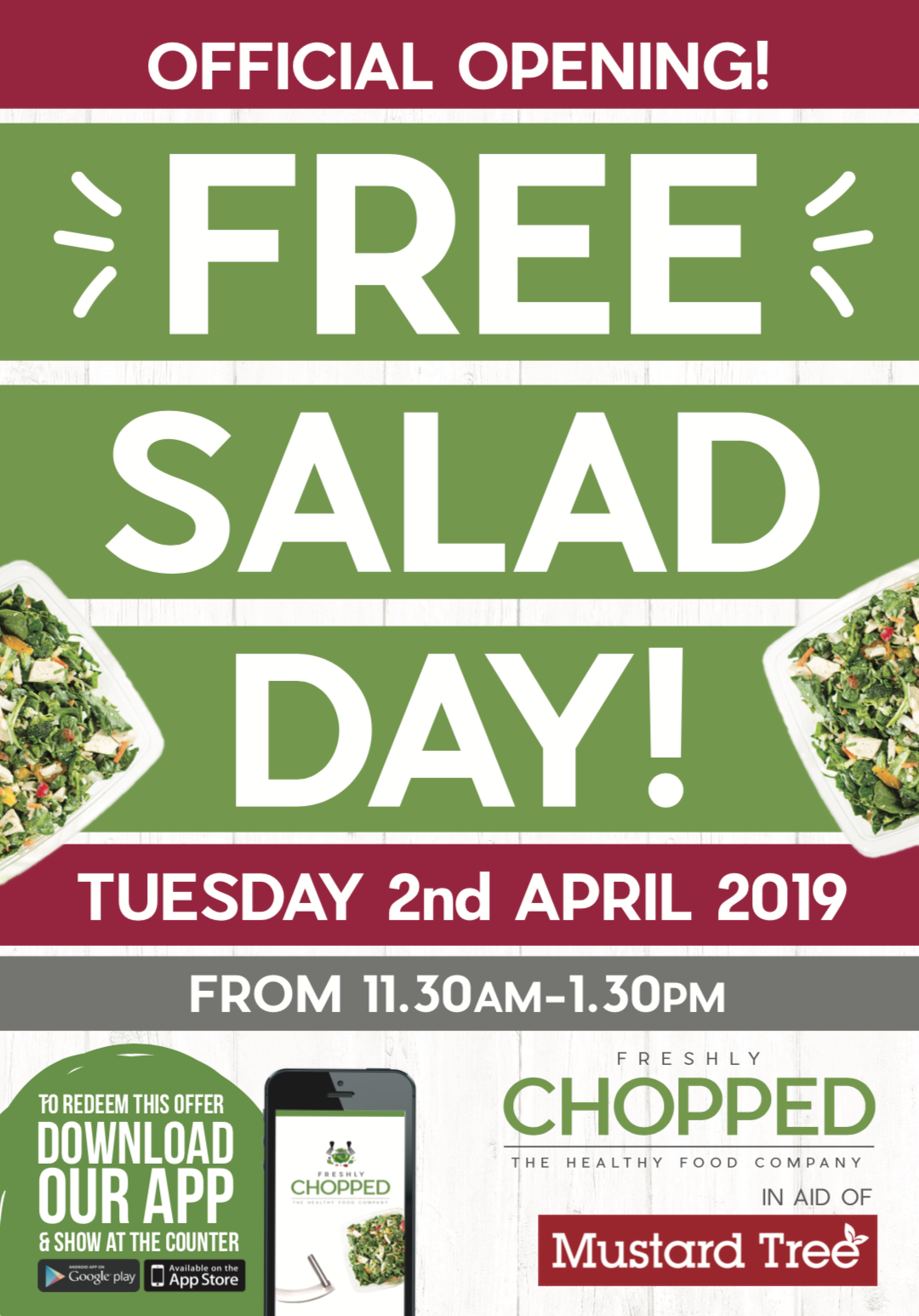 Free Salad In Aid Of Manchester Homeless Charity About