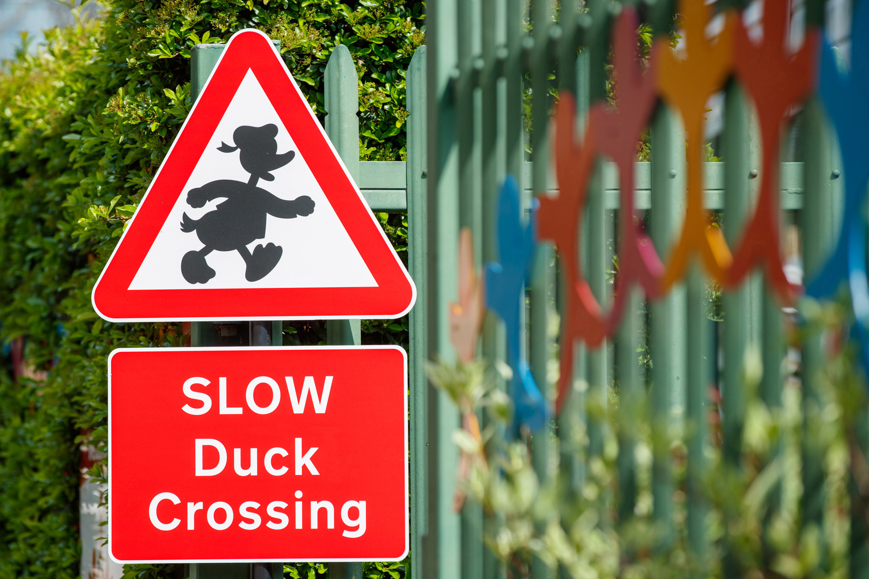 Mickey Mouse added to road signs in effort to keep children